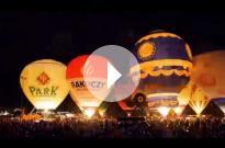 Nocny pokaz balonów V Festiwal Balonowy w Szczecinku